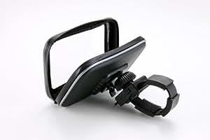 エレワークス ユピテル互換品 YERA・ポータブルナビ 自転車&バイク用 防水ケース付き 取付キット・スタンド Y-ST-016