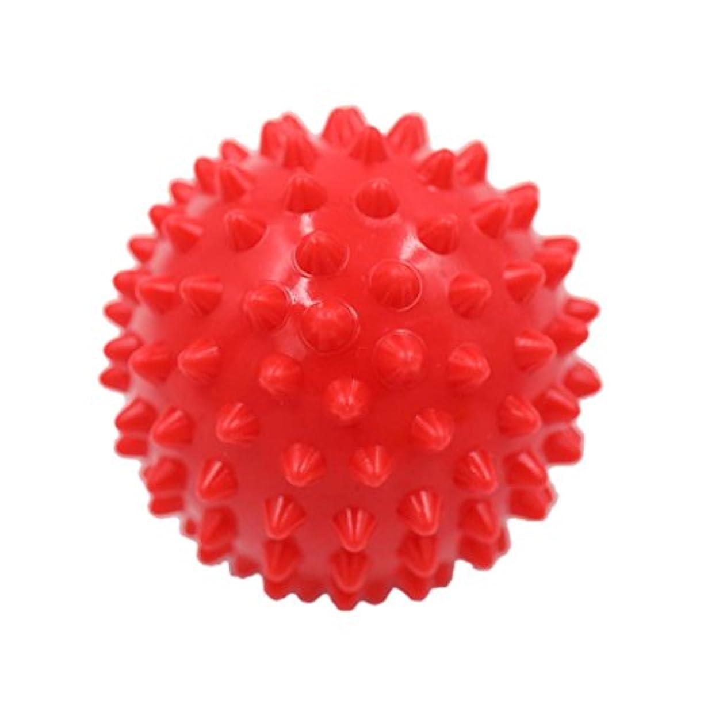 不適当凍る会計士マッサージボール マッサージ器 ボディ レリーフ スパイク マッサージ 刺激ボール 3色選べ - 赤, 説明したように