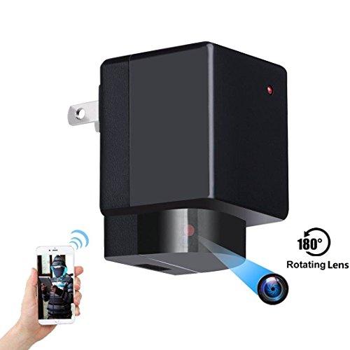 HoHoPorv Wifi 小型の隠しカメラ壁の充電器108...