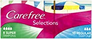 Carefree Tampons Selections Super 18