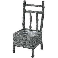 大橋新治商店 椅子型 藤プランター ラタンバスケット バークチェアー L 33-307
