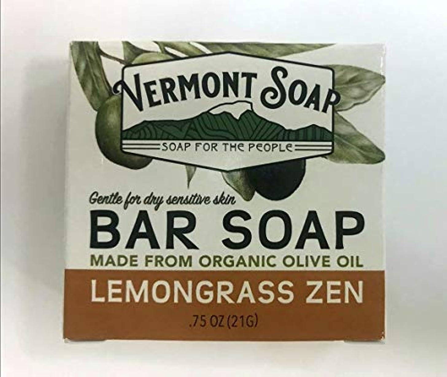 クレタ貫通する申し立てるVermontSoap バーモントソープ トラベルサイズ 2種類 (レモングラス) 21g オーガニック石けん 洗顔 ボディー
