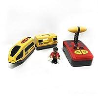 LIFEフィットのための車のおもちゃトラックブリオハーモニー列車と青、赤トラックコンビネーションリモコン制御電気機関車のおもちゃのための おもちゃの車のる