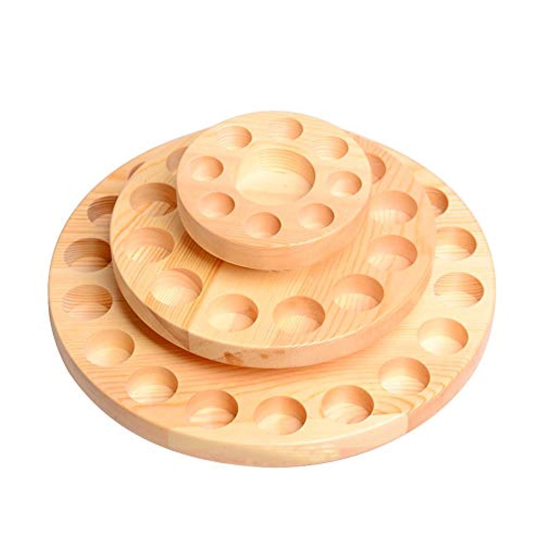 ポインタ保持するパイント39スロット木製エッセンシャルオイルの収納ボックスは、39の10?15ミリリットル油が木製オイルケースホルダーをボトル保持します アロマセラピー製品 (色 : Natural, サイズ : 27X13.5CM)