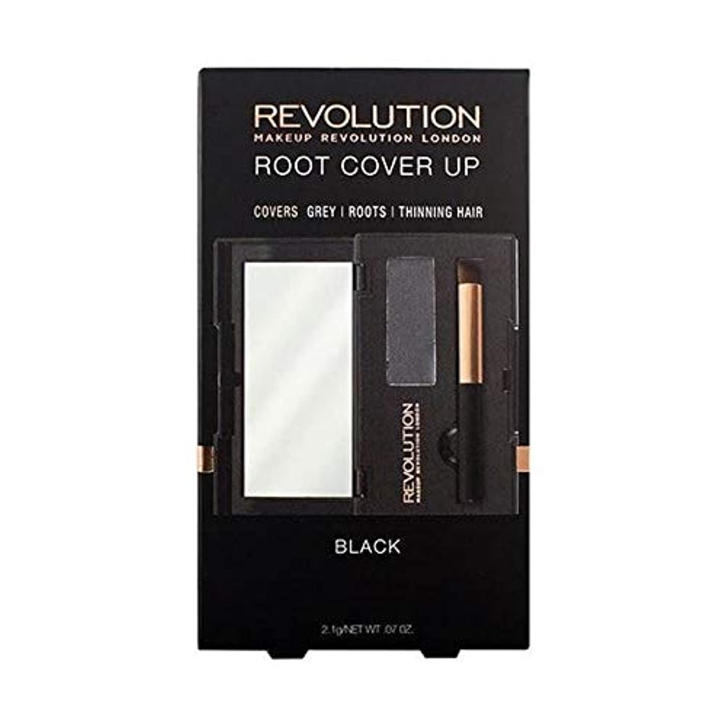 増強楽な損失[Hair Revolution ] 黒髪革命のルートカバーアップ - Hair Revolution Root Cover Up Black [並行輸入品]