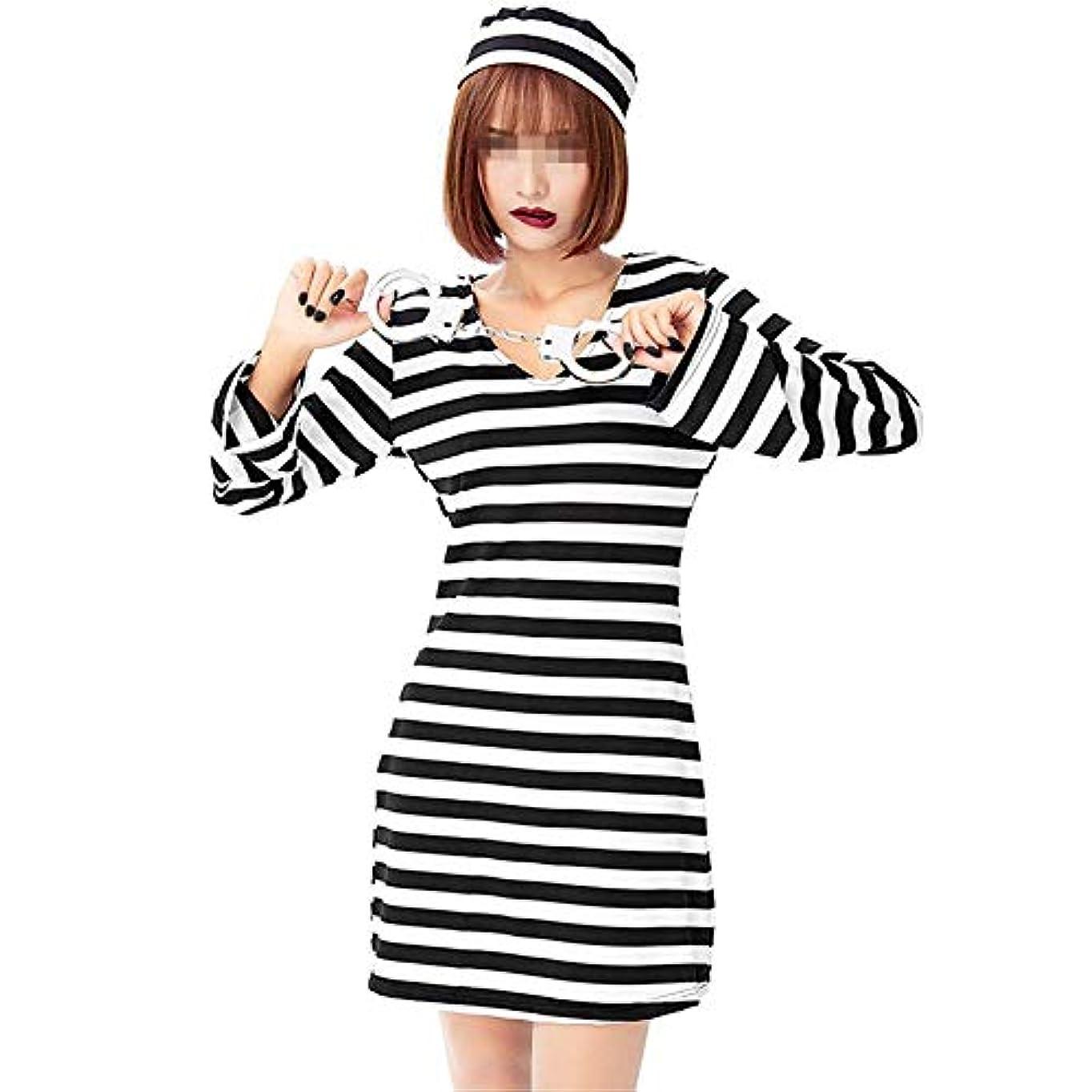 拡散する逆さまに徹底女性用ハロウィンコスチューム ハロウィーンドレス女性囚人ロールプレイコスチュームドレスハロウィーン用 女性のホーンテッドコスチューム (Color : Multi-colored, Size : M)