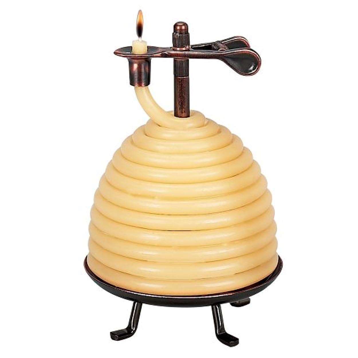 世紀殺しますフルーツ野菜Candle by the Hour 50-hour Beehive Candle、環境にやさしい天然ビーズワックスwithコットンWick Beehive Candle イエロー 20640B