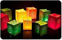 Sky Lanterns 24 xキャンドルバッグ - キャンドル、提灯、盛り合わせ色