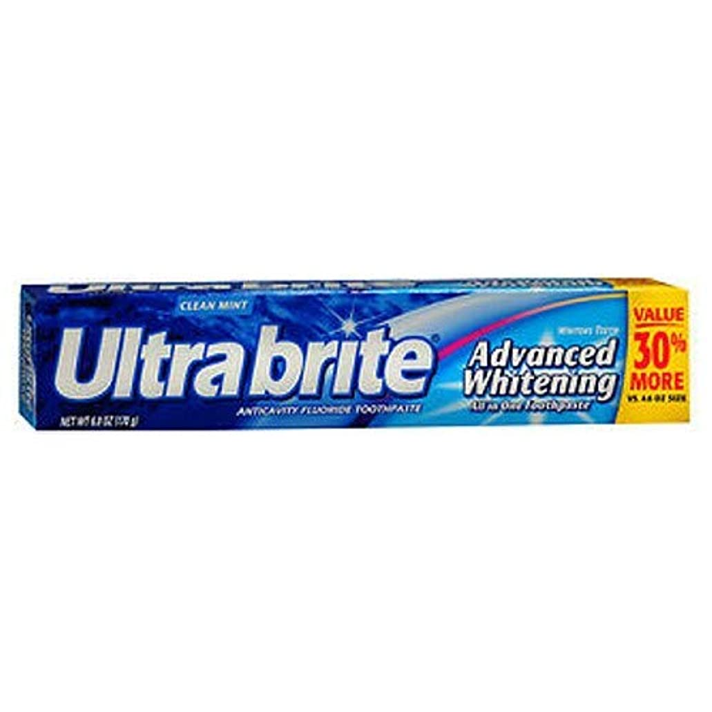 装置香水畝間海外直送品Colgate Colgate Ultra Brite Advanced Whitening Fluoride Toothpaste, 6 oz (Pack of 3)