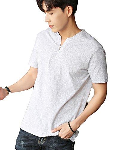Tシャツ 半袖 ゆる Vネック 無地 メンズ カジュアル