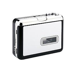 AiteFeir PC不要!日本語取扱説明書付き カセットテープ USB変換プレーヤー カセットテープデジタル化 MP3コンバーター カセットテープのプレーヤーとしても使えます。MP3の曲を自動分割!USBフラッシュメモリ保存!オートリバース機能!