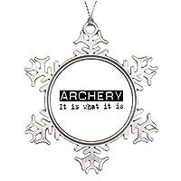 Personalisedクリスマスツリー装飾アーチェリーItは、スノーフレーク飾りとMoreアーチェリー