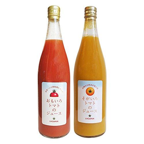 「おもいろトマト」と「そがいろトマト」のトマトジュースセット トマト100% 水・食塩・糖類等は一切不使用 ジュースクレンズに最適 720ml×2 ギフト 贈り物 贈答品 誕生日プレゼント 業務用に
