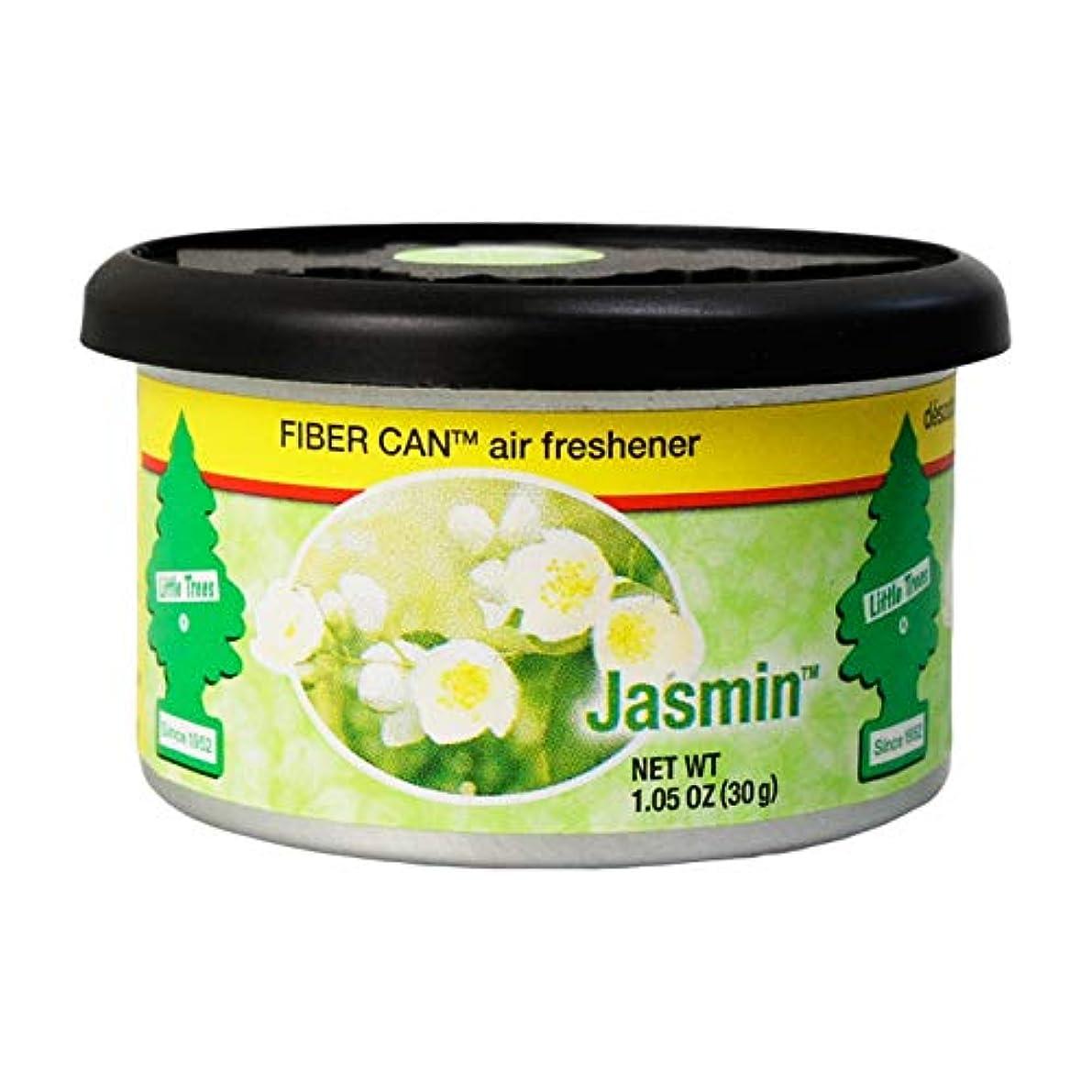聖書書道低いリトルツリー ファイバーカン エアフレッシュナー (ジャスミン)【Little Trees FIBER CAN Air Fresheners (Jasmin)】芳香剤 車 部屋 缶 [並行輸入品]