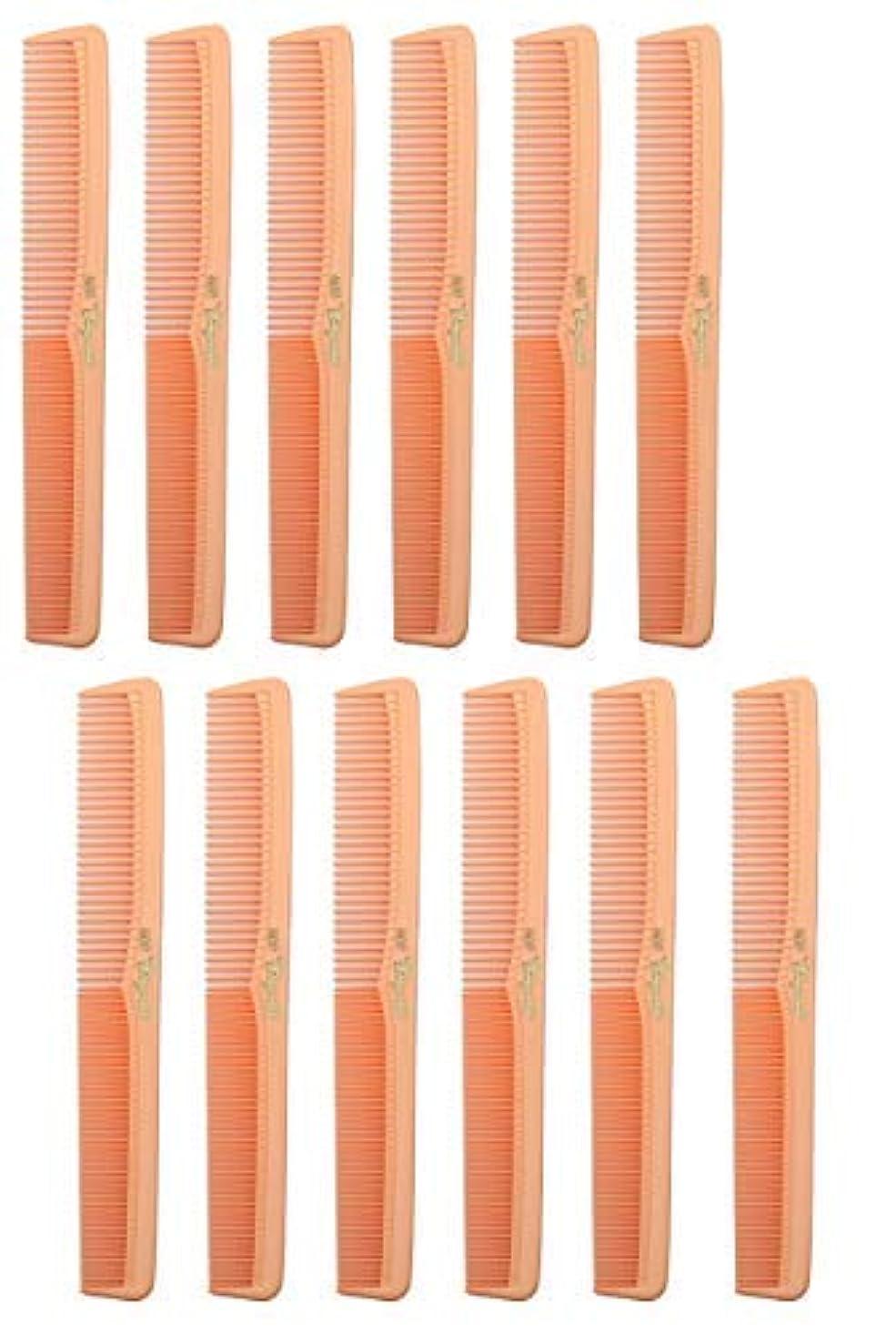 アイスクリーム手段広々とした7 inch All Purpose Hair Comb. Hair Cutting Combs. Barber's & Hairstylist Combs. Coral Peach. 12 Units. [並行輸入品]