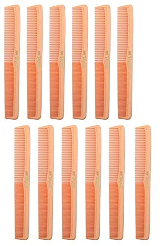 予知逆さまにポイント7 inch All Purpose Hair Comb. Hair Cutting Combs. Barber's & Hairstylist Combs. Coral Peach. 12 Units. [並行輸入品]