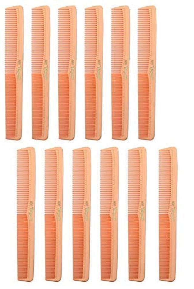 ばかキャンディー白内障7 inch All Purpose Hair Comb. Hair Cutting Combs. Barber's & Hairstylist Combs. Coral Peach. 12 Units. [並行輸入品]