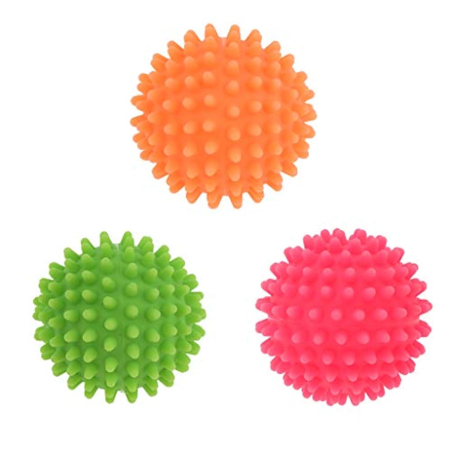 有能な肝輝く3個入 ヨガ マッサージボール ストレッチボール 足裏 背中 肩こり 腰 ツボ押し 痛み軽減