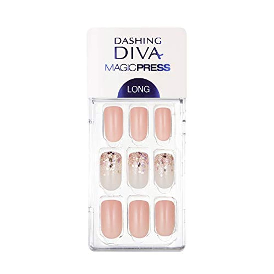 否認するキノコ受け入れるダッシングディバ マジックプレス DASHING DIVA MagicPress MDR_437SL-DURY+ オリジナルジェル ネイルチップ Glittering Peach