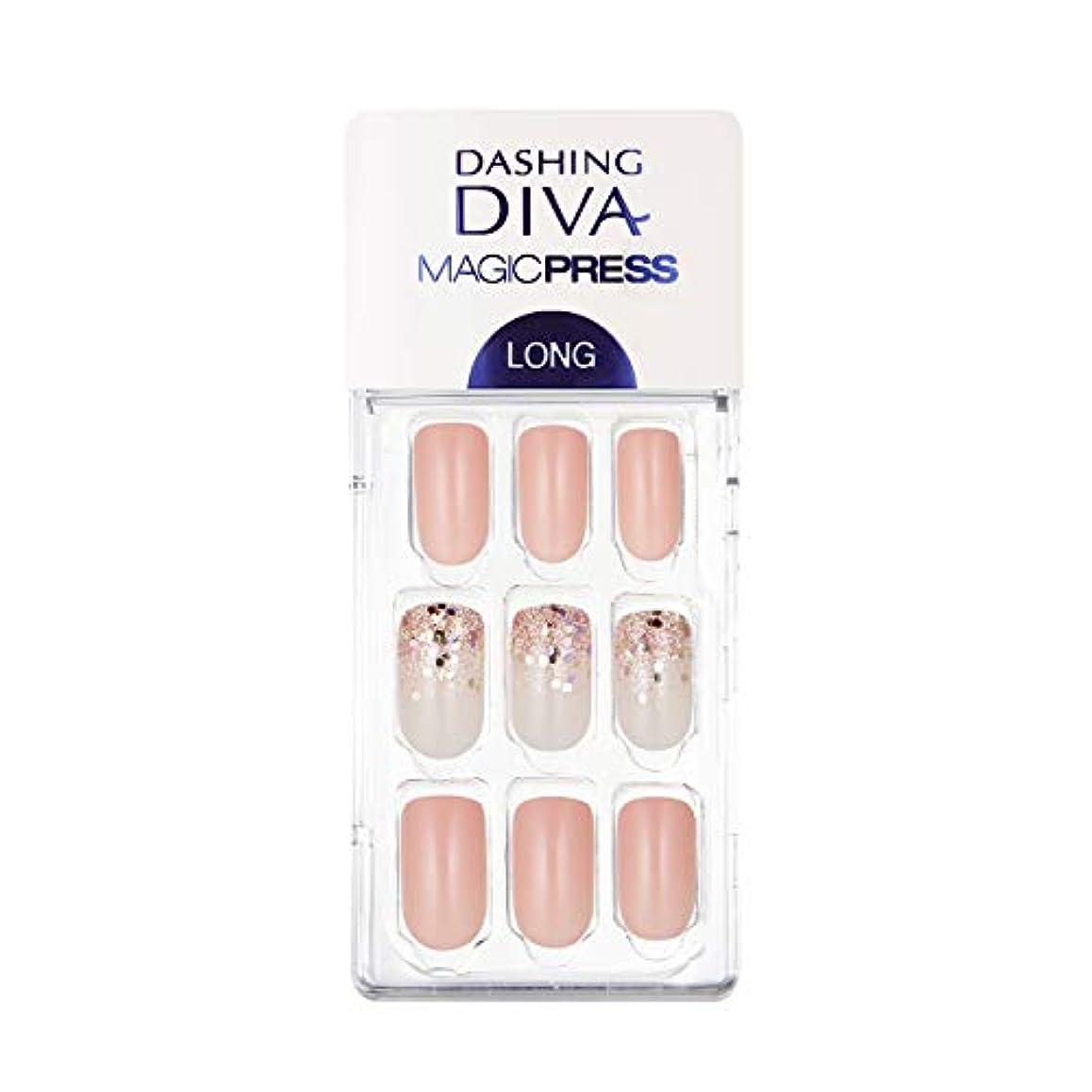 大学院その他刃ダッシングディバ マジックプレス DASHING DIVA MagicPress MDR_437SL-DURY+ オリジナルジェル ネイルチップ Glittering Peach
