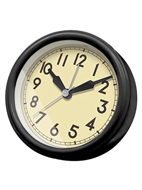 誠時(セイジ) アナログ時計 レトロ クロック ジーノ ブラック LW-010BK