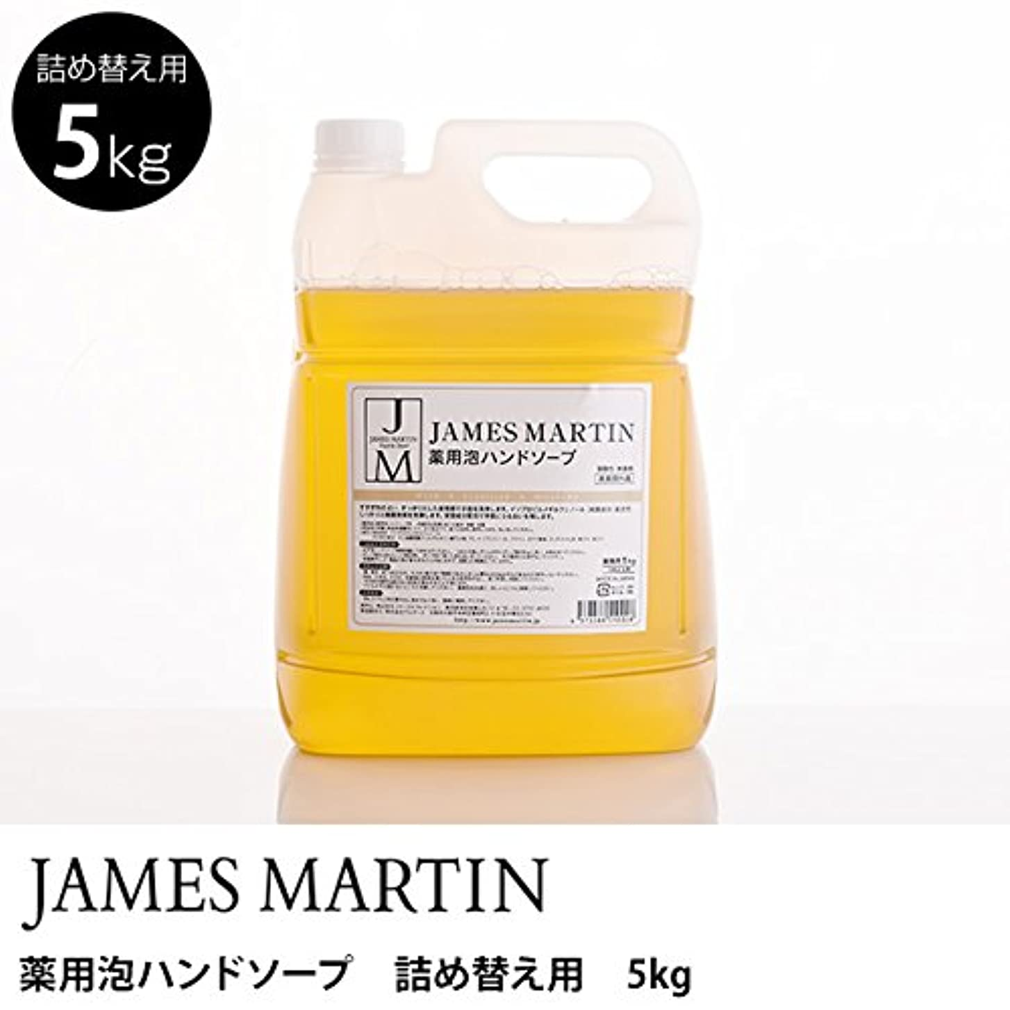 適合ブラシ放散するジェームズマーティン 薬用泡ハンドソープ(無香料) 詰替用 5kg