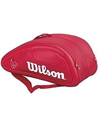 Wilson(ウイルソン) テニス ラケットバッグ FEDERER DNA 12PACK レッド WRZ830712