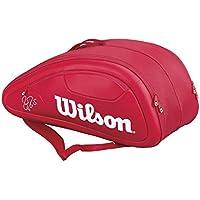 Wilson(ウイルソン) テニス ラケットバッグ FEDERER DNA (フェデラー DNA) 12PACK レッド 12本収納可能 WRZ830712