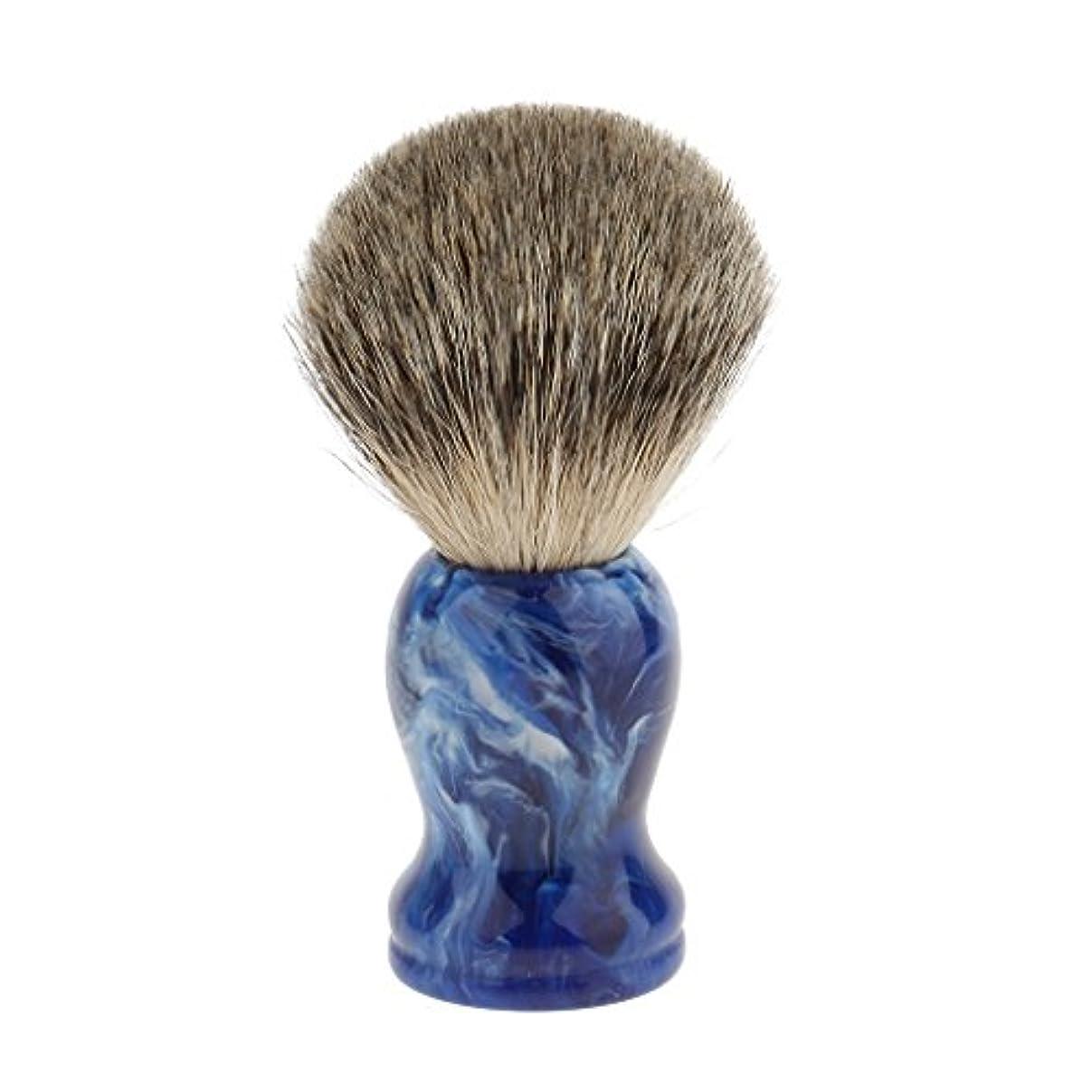 七面鳥想像力大胆シェービングブラシ ひげブラシ 理容 洗顔 髭剃り 泡立ち 樹脂ハンドル 高密度 ブラシヘッド