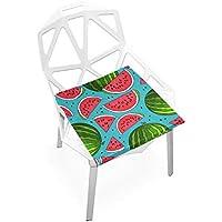 座布団 低反発 スイカ 果物 ブルー ビロード 椅子用 オフィス 車 洗える 40x40 かわいい おしゃれ ファスナー ふわふわ fohoo 学校