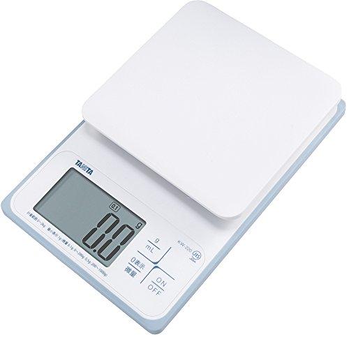タニタ 洗えるデジタルクッキングスケール 2kg/0.1g ホワイト KW-220-WH パン作りにおすすめ