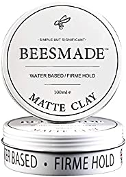 BEESMADE Hair Classic Pomade|Clay Pomade|Matte Clay (Matte Clay) - Extreme Hold with Matte Finish