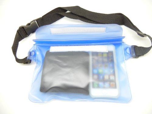 完全防水 ウエストバッグ ポーチ アウトドア 海水浴 プール の 必需品 I02-03 (ブルー)