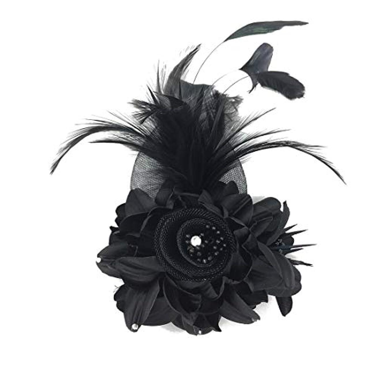 突然の服を洗うトレッドコサージュ 入学式 コサージュ フォーマル 2way ヘッドドレス 卒業式 黒 コサージュ 結婚式 髪飾り fh18008bk