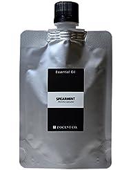 (詰替用 アルミパック) スペアミント 100ml インセント アロマオイル AEAJ 表示基準適合認定精油
