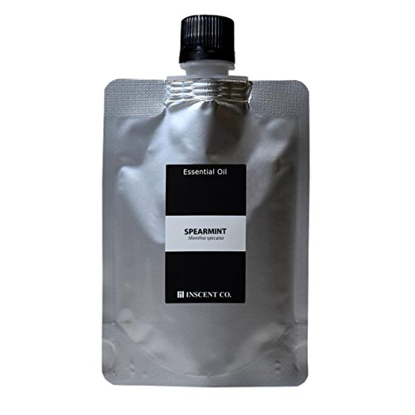 テキストガード執着(詰替用 アルミパック) スペアミント 100ml インセント アロマオイル AEAJ 表示基準適合認定精油