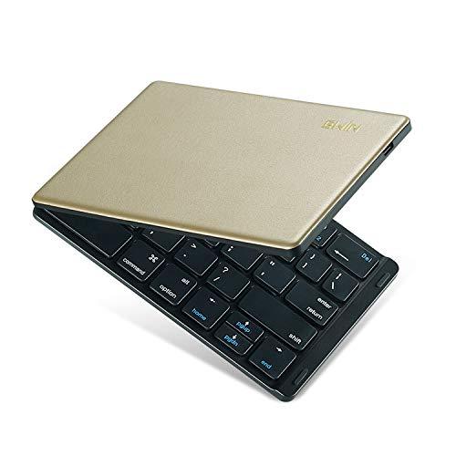 Ewin 新型 キーボード bluetooth 折りたたみ ワイヤレス 小型 Bluetoothキーボード スマホ ipad キーボード 折りたたみ式 軽量 コンパクト うすい レザー 無線 ぶるーとぅーす ワイヤレスキーボード usb充電 ios|android|windows|mac|iphone|fire hd 8|ipad mini4|ps4|ipad 12.9|ipad 9.7 2018|ipad 10.5|ipad 11インチ|iPad mini 第5世代 2019に対応 タブレット スマホスタンド付属 【日本語説明書】