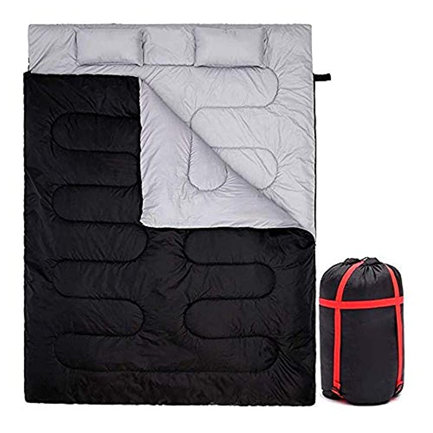 縫う血まみれの商品二重寝袋、大人のキャンプのための長方形の封筒の寝袋、ハイキング