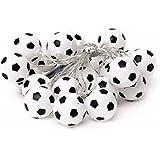 パーティーパーク サッカーボール型 ガーランド デコレーション ライト (電池式)LED 暖白 オーナメント 飾り付け パーティー イルミネーション