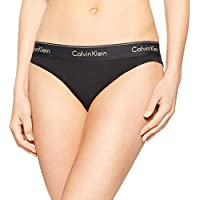 Calvin Klein Women's Modern Cotton Recolors Bikini, Black with Gold Logo