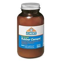 Wholesale CASE of 25–Elmer 's Ross 8オンスボトルW /ブラシゴムcement-rubberセメントW /ブラシ、無酸、フォト安全、8オンス、クリア