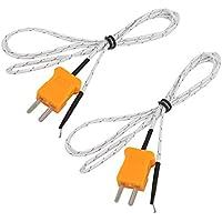 uxcell 2個セット -50-200C フォーク端子 Kタイプ 熱電対プローブ 温度測定センサー