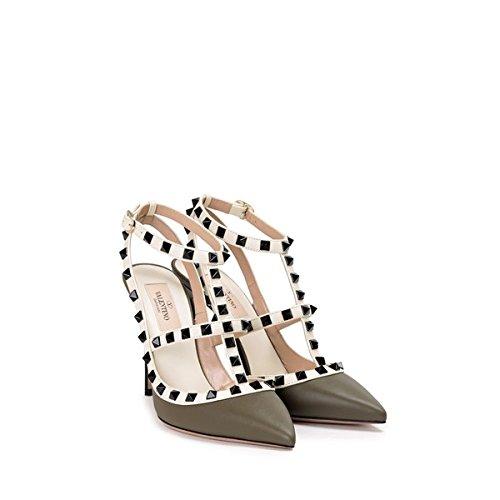 (ヴァレンティノ) valentino レディース シューズ・靴 ヒール Rock Stud leather slingback 並行輸入品