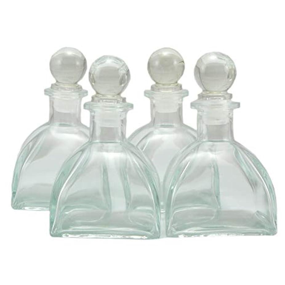 喜ぶ苦難マーチャンダイジング4本セット高級アロマ精油拡散ボトル、オフィス、ショップ、ホーム高品位アロマガラスボトル、150mlアロマエッセンシャルオイルガラスボトル