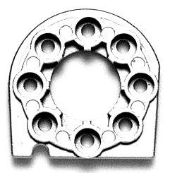 HOP-UP OPTIONS OP-666 TT-01 メタルモーターマウント