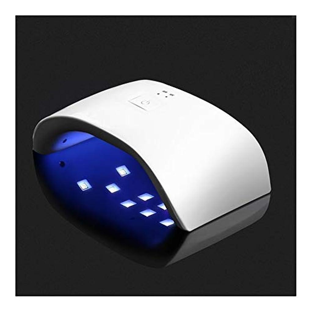 蘇生するシルク間違いなくLittleCat 36WネイルUV誘導機ドライヤースマート主導ネイルポリッシュプラスチックヒートランプライト処理ツール (色 : White)