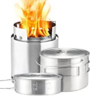 Solo Stove Campfire and 2 Pot Set Combo Cooking System One Size Silver