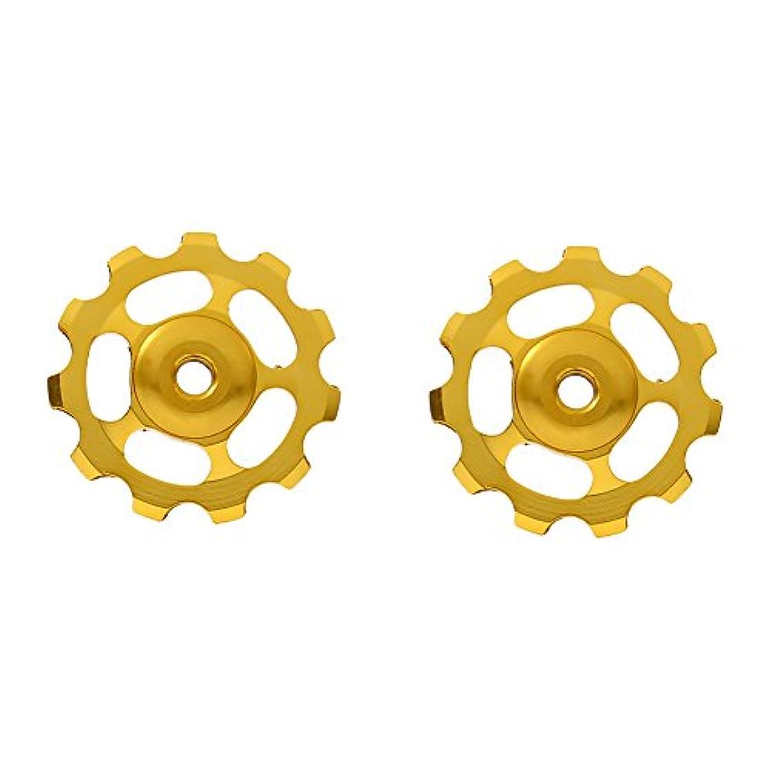 継続中真面目なリーガン2pcs耐久性アルミニウム合金Derailleur Pulley 11t CNC Derailleurジョッキーホイール自転車パーツサイクリングセットガイドプーリ