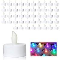 LEDキャンドル 48個 七色 ライトキャンドル キャンドルライト