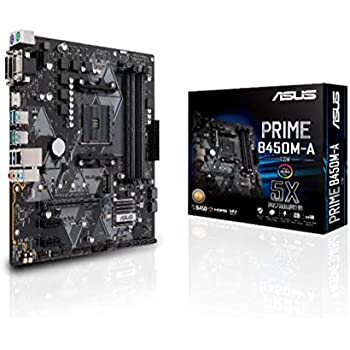 ASUS AMD B450 搭載 AM4 対応 マザーボード PRIME B450M-A/CSM 【MicroATX】【 第3世代 AMD Ryzen CPU に対応】